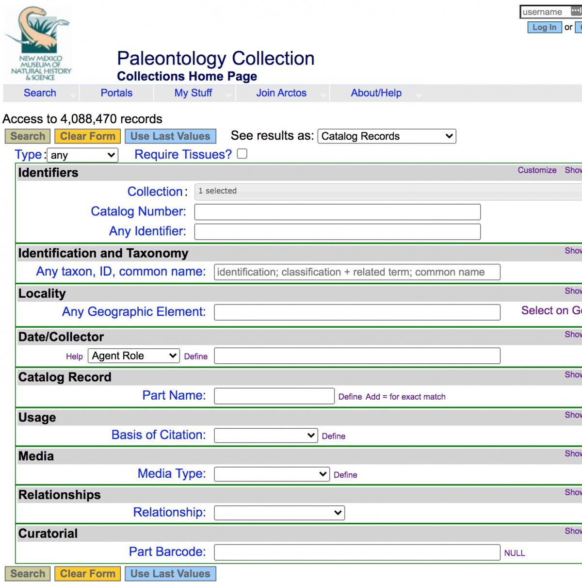 Research Collections Database