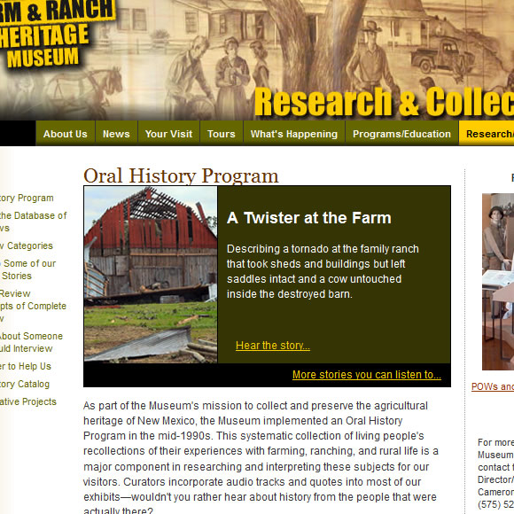 Farm and Ranch Oral History Program